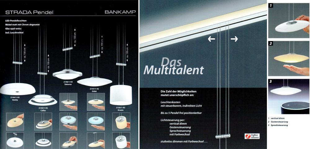 Bankamp Strada Emotion / seitlich verschiebbare Pendelleuchte